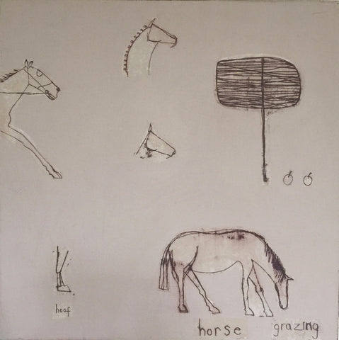 Horse Grazing, Clare Haxby