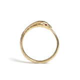 Gold Ouroboros Snake Ring Limited Edition with Precious Stones, Rachel Entwistle - CultureLabel - 3