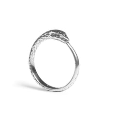 Silver Ouroboros Snake Ring, Rachel Entwistle Alternate View
