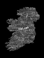 Ireland Type Map, Run For The Hills