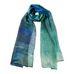 Cezanne - Le Lac D'Annecy Silk Chiffon Scarf, The Courtauld Gallery