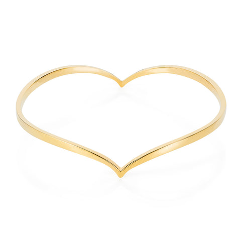 Gold Heart Bangle, Lee Renée