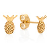 Gold Pineapple Stud Earrings, Lee Renée