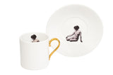 Girl in a Cup Espresso Cup & Saucer Set of Two, Melody Rose - CultureLabel - 2