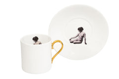Girl in a Cup Espresso Cup & Saucer Set of Two, Melody Rose Alternate View