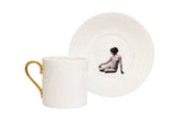 Girl in a Cup Espresso Cup & Saucer Set of Two, Melody Rose - CultureLabel - 5