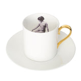 Girl in a Cup Espresso Cup & Saucer Set of Two, Melody Rose - CultureLabel - 3