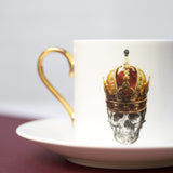 Skull in Red Crown Espresso Cup & Saucer Set of Two, Melody Rose - CultureLabel - 4