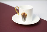 Skull in Red Crown Espresso Cup & Saucer Set of Two, Melody Rose - CultureLabel - 6