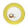 Yellow Trapeze Boy and Girl Dinner Plates Set of Two, Melody Rose - CultureLabel - 2