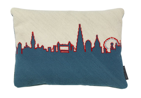 London Skyline - Red White and Blue, Fine Cell Work - CultureLabel - 1
