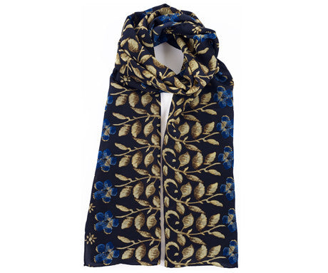 Erskine George Jamesone Dark Blue Silk Scarf - CultureLabel - 1