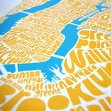 Map of NYC - yellow/sky blue, Ursula Hitz - CultureLabel - 2 (crop at angle)