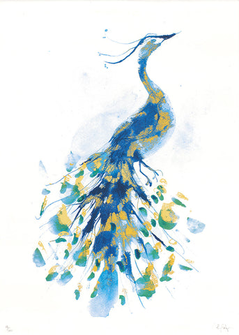 Peacock Limited Edition Screen Print, Gavin Dobson