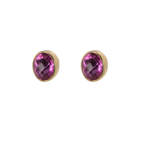 Pink Quartz Stud Earrings, The British Museum - CultureLabel - 1 (pair)