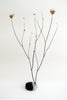 Inky Black and White Glazed Porcelain Plant Stem Holder - CultureLabel - 1
