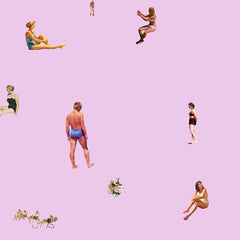 Bathers On Pink, Steven Quinn Alternate View