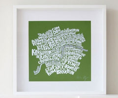Map of Central London - Green, Ursula Hitz Alternate View