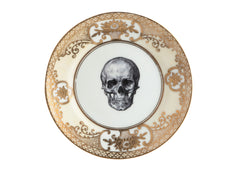 Upcycled Vintage Gold Skull Side Plate, Melody Rose Alternate View