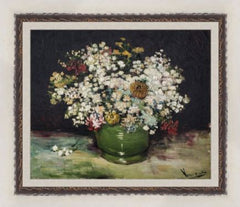 Bowl of Zinnias and Other Flowers by Vincent Van Gogh 3d Reproduction, Verus Art Alternate View