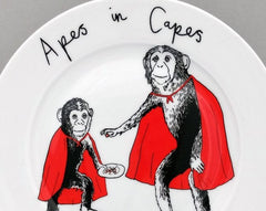 Apes In Capes Side Plate, Jimbobart Alternate View