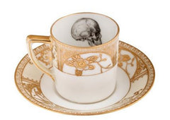 Upcycled Skull Design Gold Espresso Set of 2, Melody Rose Alternate View