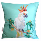 Cockatoo Cushion, Chloe Croft  (full view blue)- CultureLabel - 3