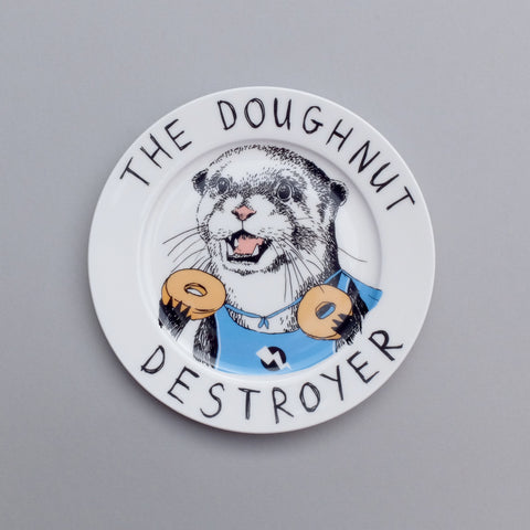 Doughnut Destroyer Side Plate, Jimbobart - CultureLabel