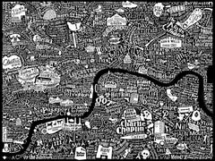 Film London Map Art Print, Run For The Hills Alternate View