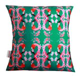 Fanciful Flamingos and Flowers Cushion, Chloe Croft - CultureLabel