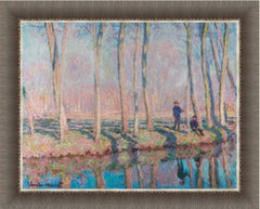 Jean-Pierre Hoschede and Michel Monet on the Banks of the Epte by Claude Monet 3d Reproduction, Verus Art