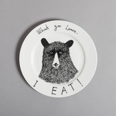 Hungry Bear Side Plate, Jimbobart