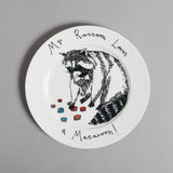 Mr Raccoon Loves A Macaroon Side Plate, Jimbobart - CultureLabel - 2
