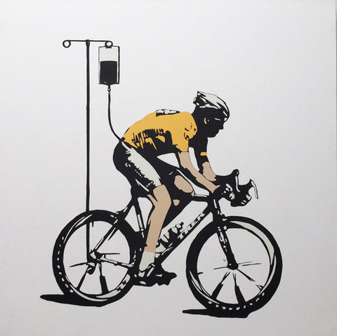 No More Heroes - Lance Armstrong - Canvas, Plastic Jesus