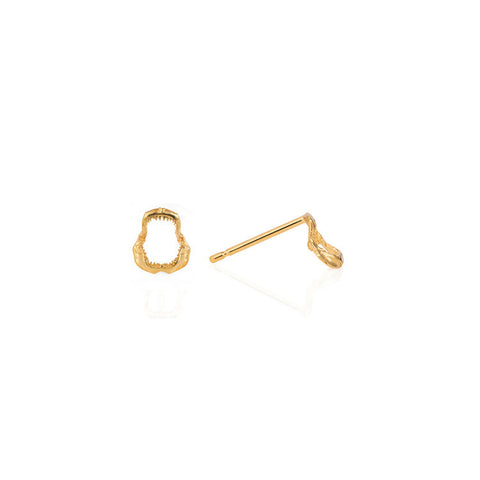 Shark Jawbone Mini Stud Earrings, Lee Renée