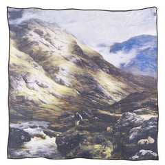 Wandering Shadows Peter Graham Silk Scarf, National Galleries of Scotland Alternate View