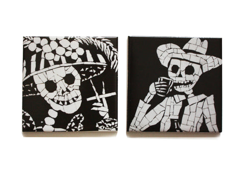 His and Her Coaster Set, Juan is Dead - CultureLabel - 1