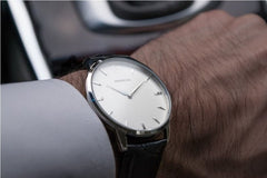 Classic Black Leather Watch, Montecivo Watches Alternate View