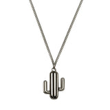 Cactus Necklace Oxydised Silver, Lee Renée