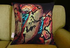 Snake Portrait Cushion, Chloe Croft Alternate View