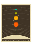 Framed Solar System (Brown) by Jazzberry Blue - CultureLabel - 2