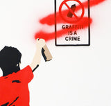 Graffiti is a Crime - Canvas, Plastic Jesus