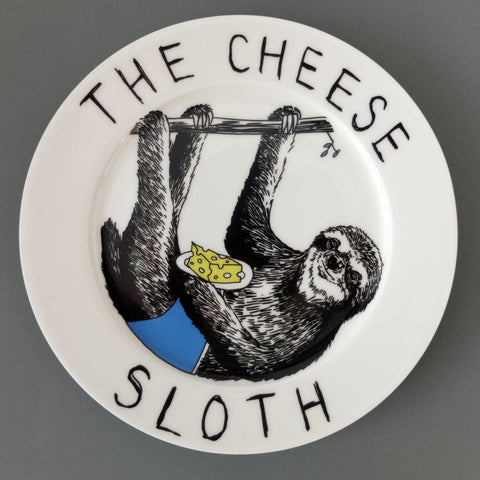 The Cheese Sloth Side Plate, Jimbobart - CultureLabel