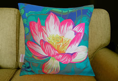 Water Lily Cushion, Chloe Croft Alternate View