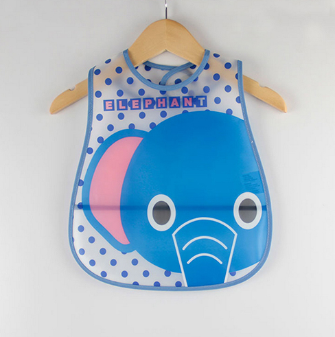 Elephant Cartoon Design Waterproof Baby Bibs