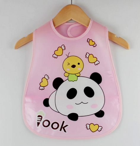 Panda Cartoon Design Waterproof Baby Bib