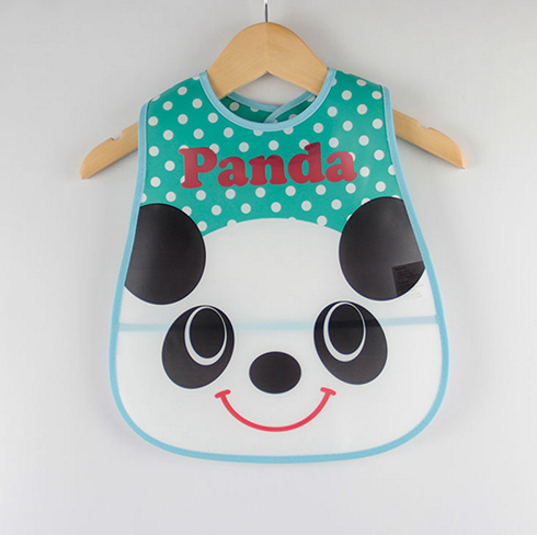 Panda Cartoon Design Waterproof Baby Bibs