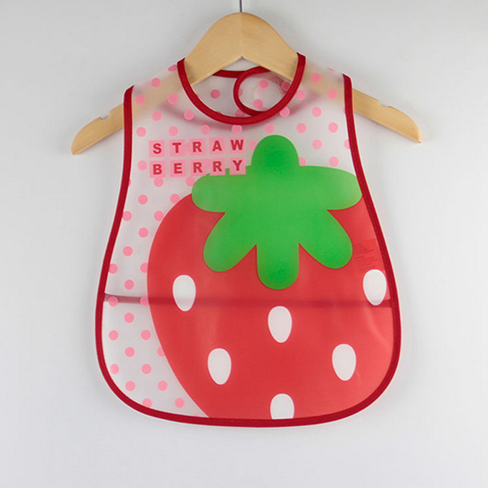 Strawberry Shortcake Cartoon Design Waterproof Baby Bib