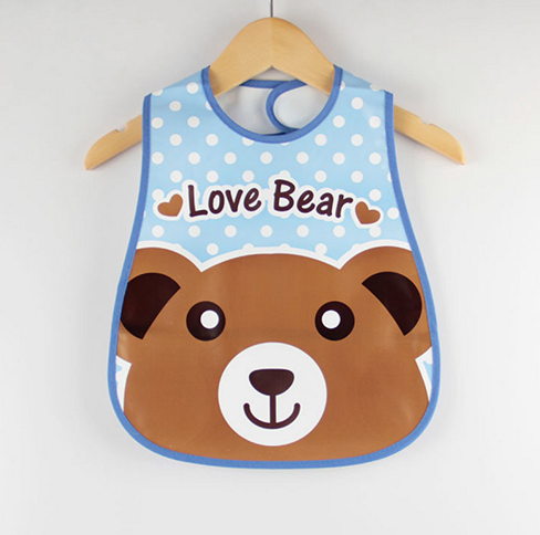 Bear Cartoon Design Waterproof Baby Bibs
