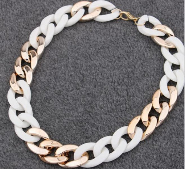 Trendy Fashion Statement Figaro Choker Necklace OFFER